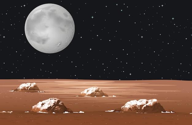 銀河系の惑星とのシーン