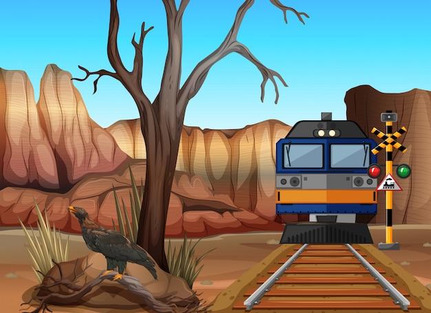 Поездка на поезде через каньоны