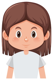 ブルネットの少女キャラクター