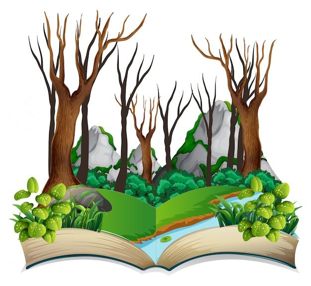 開いた本のジャングルのテーマ