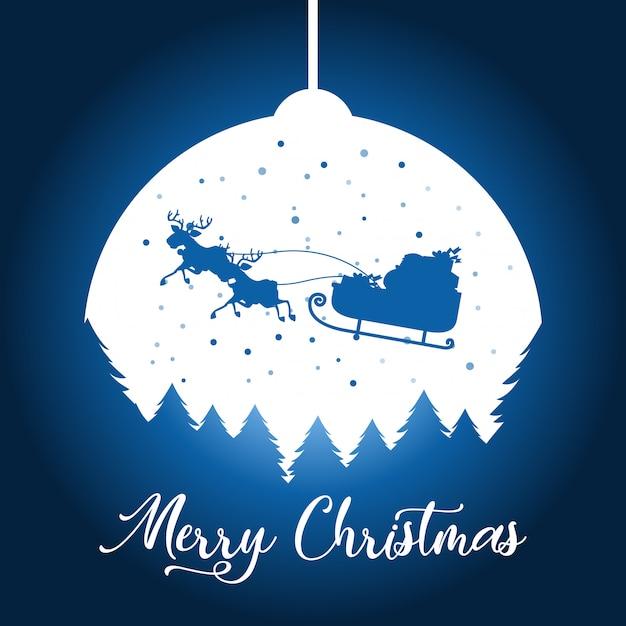 シルエットのクリスマスの背景