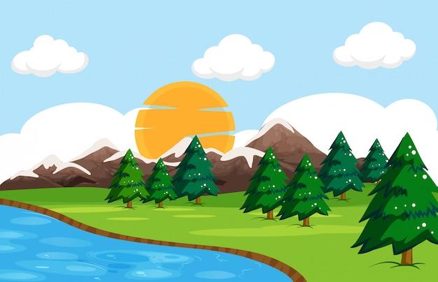 単純な自然の風景