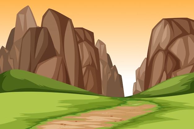サンセットキャニオンの風景