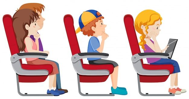 Изолированный пассажир на самолете