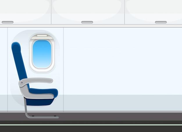 Пустой фон салона самолета