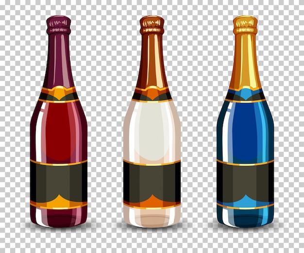 Набор бутылок шампанского