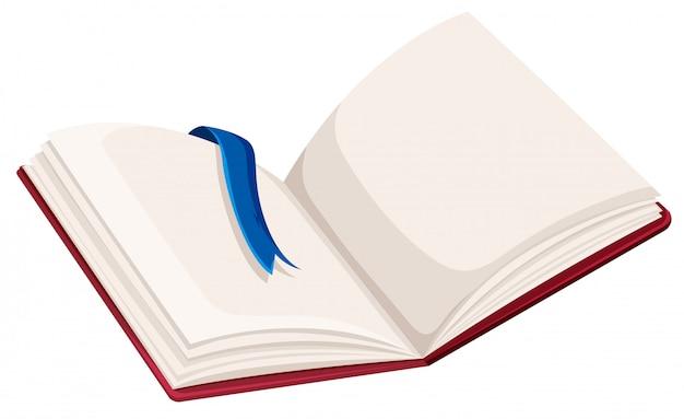 空白の開かれた本