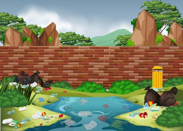 自然公園のゴミ