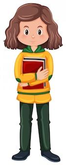 ブルネットの女子学生キャラクター