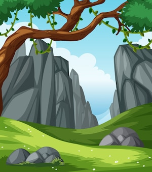平らな自然の風景