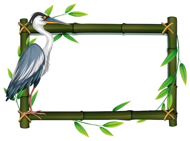 自然フレームの中の鳥