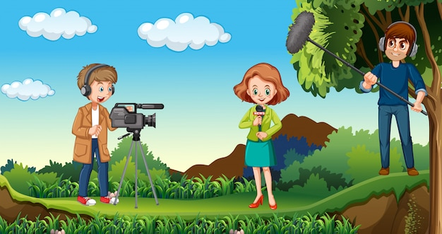 自然の中で働くジャーナリスト