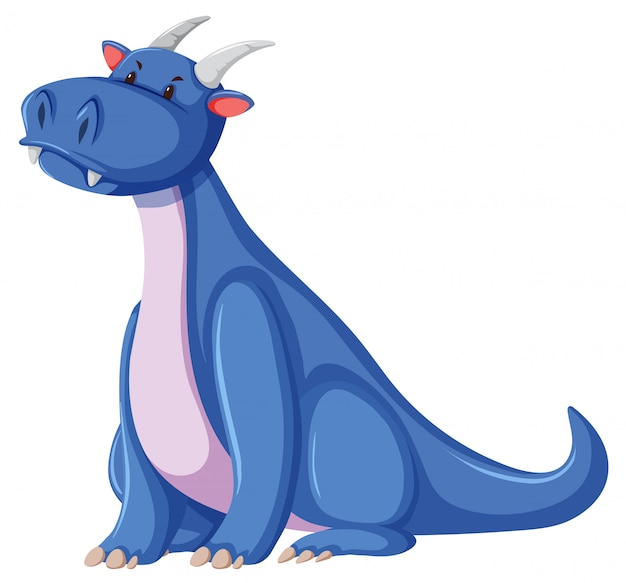 白い背景の上のドラゴンキャラクター