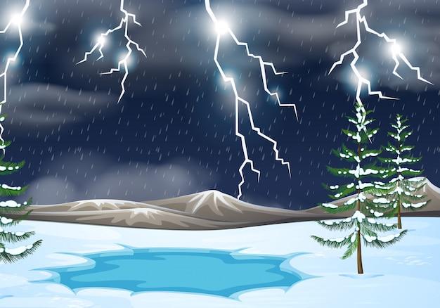 雷雨の自然の背景