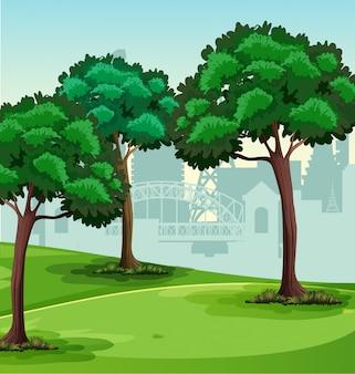 簡単な公園の風景