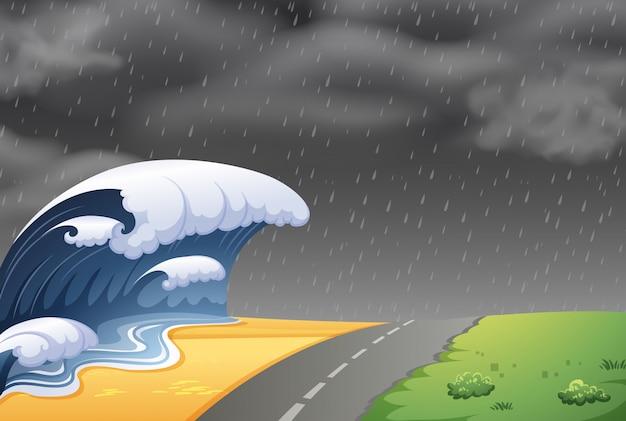 大津波の風景