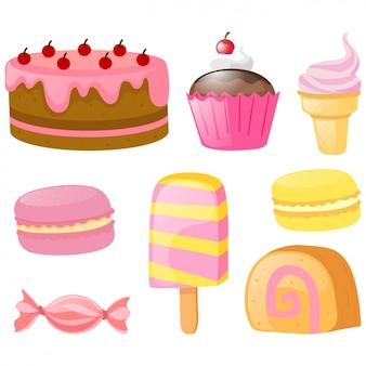 色とりどりのケーキコレクション