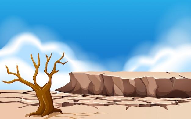 Дневная засушливая земля
