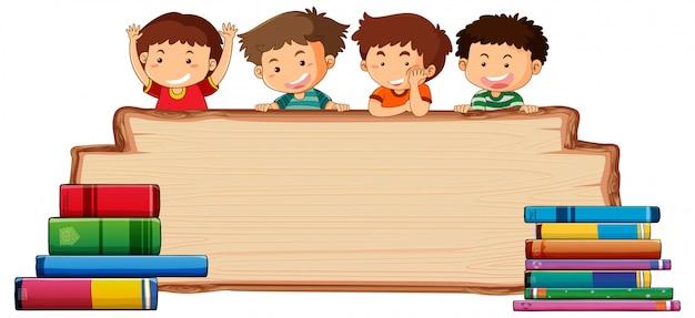 Дети на деревянной доске