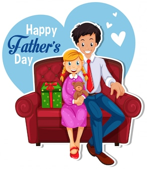 幸せな父の日のロゴ