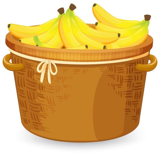 かごの中のバナナ