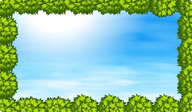 空の背景を持つブッシュフレーム