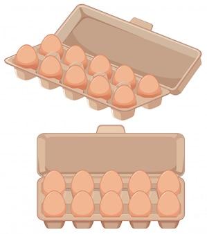 Изолированное яйцо в коробке