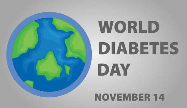 Дизайн плаката ко всемирному дню диабета