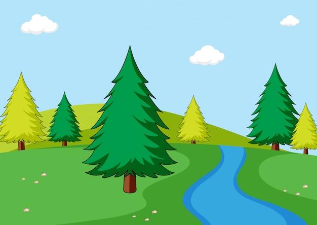 Простая сцена природы