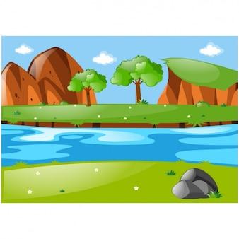 自然の背景デザイン
