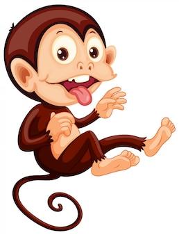 遊び心のある猿のキャラクター