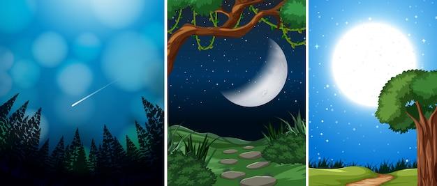 夜景のセット