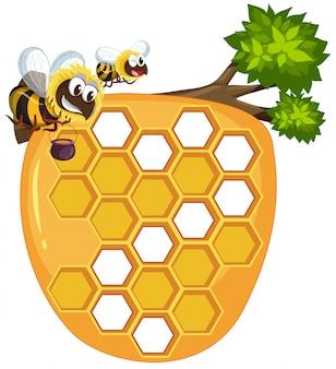 白い背景で隔離の蜂の巣