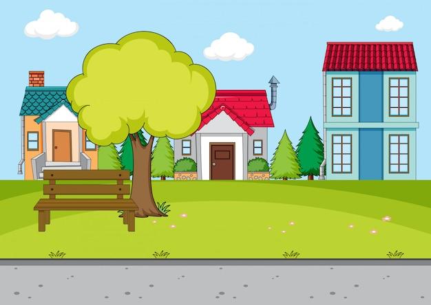 Простая деревенская сцена