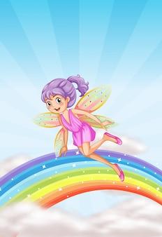 Милая фея на небе