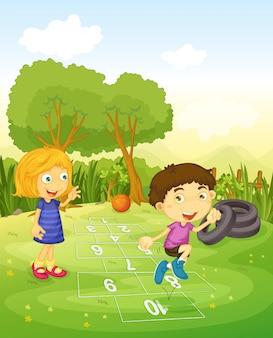 Детская игра 'классы'