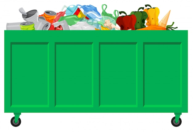 Сбор зеленого мусора