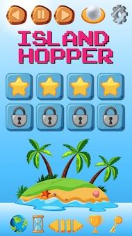 Шаблон игры островной хоппер