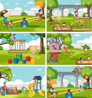 Дети на игровой площадке