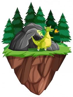 洞窟に住む龍