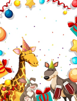 動物のパーティーフレーム