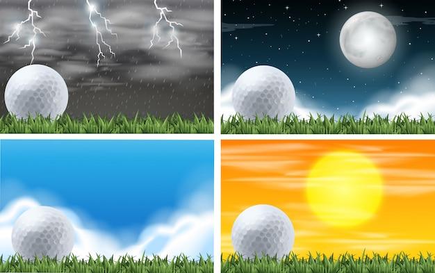 ゴールドフィールドの異なる天気のセット