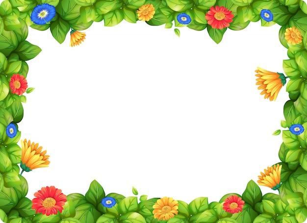 美しいガーベラの花のフレーム
