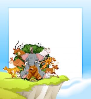 野生動物のフレーム