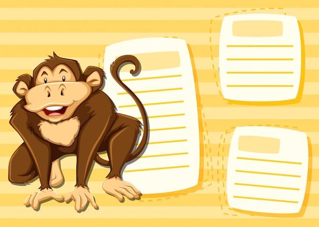 ノートテンプレートの猿