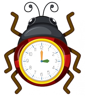 てんとう虫の時計テンプレート