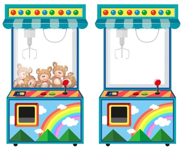 人形イラストのアーケードゲーム機