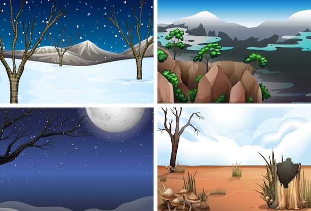 自然風景のセット