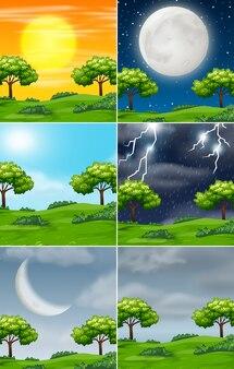 Множество природы в разную погоду