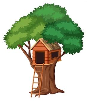 孤立した木の家